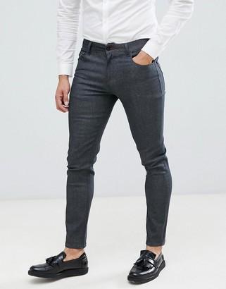 ASOS DESIGN smart skinny jeans in raw gray