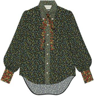 Gucci Liberty floral crepe shirt