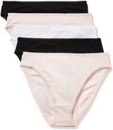 Iris /& Lilly Womens Womens Cotton Bikini Brief Multipack Brief