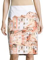 Lord & Taylor Porto Skyline Pencil Skirt