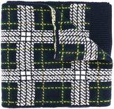 Bally tartan knit scarf