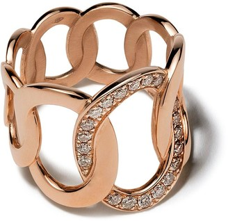 Pomellato 18kt rose gold Brera brown diamond ring