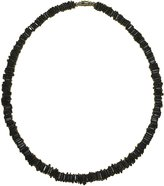 "Native Treasure - 20"" Dark Chips Puka Shell High Quality Jewelry Necklace"