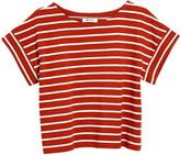Madewell Stripe Boxy Crop Organic Cotton T-Shirt