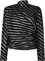 MSGM Glitter Striped Top