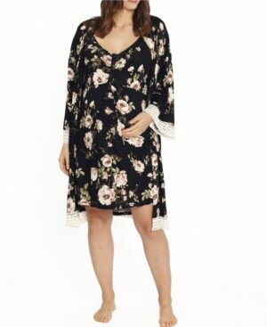 Blooming Women by Angel Blooming Women 2 Piece Robe and Nighty Dress Set