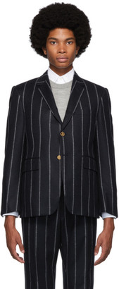 Thom Browne Navy Stripe Classic Sport Coat
