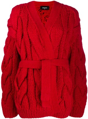 DSQUARED2 oversized chunky knit cardigan