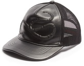 Gucci Snake-embossed Leather Baseball Cap