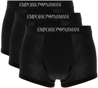 Giorgio Armani Emporio Underwear 3 Pack Trunks Black