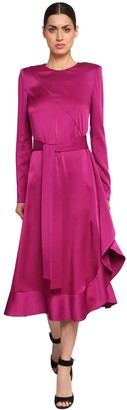 Givenchy Ruffled Crepe Satin Dress
