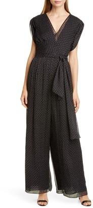 Diane von Furstenberg Cassandra Print Silk Jumpsuit