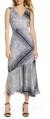 Sam Edelman Geometric Animal Print Maxi Dress