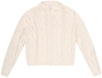 BRUNELLO CUCINELLI KIDS Cotton-blend sweater jacket