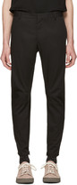 Lanvin Black Biker Chino Trousers