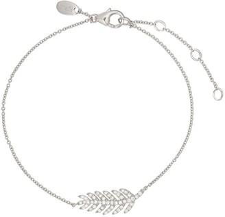 Monan 18kt White Gold Diamond Feather Bracelet