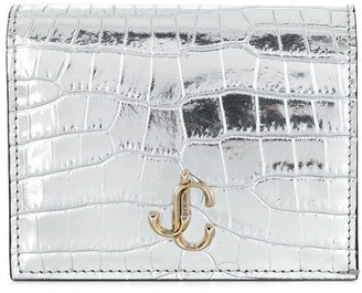 Jimmy Choo Hanne metallic bi-fold wallet