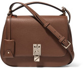 Valentino Piper Textured-leather Shoulder Bag - Brown