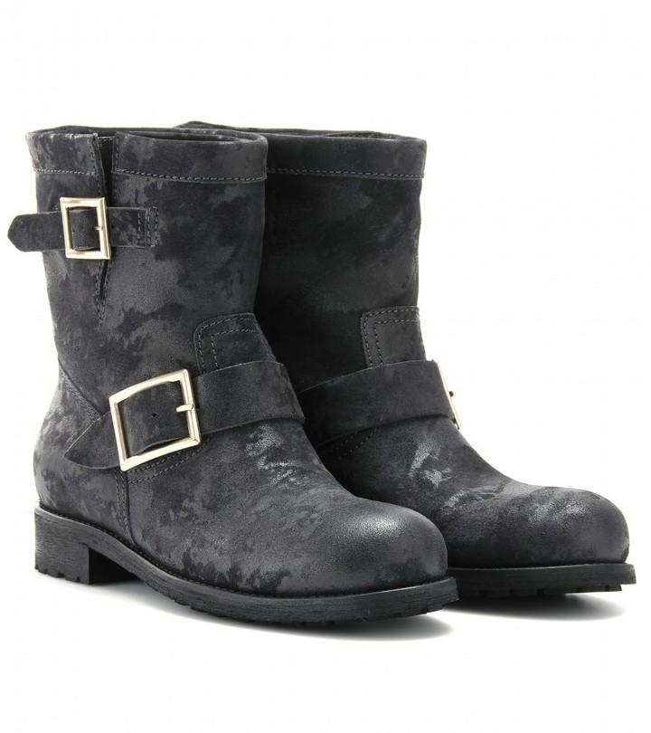 Jimmy Choo Youth leather biker boots