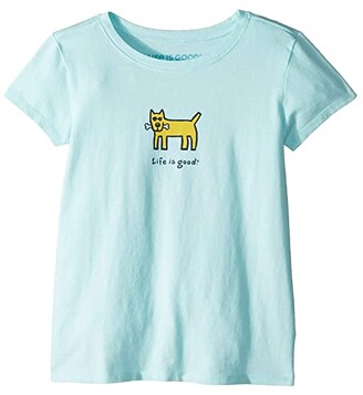 Life is Good Rocket with Bone Crushertm Tee (Little Kids/Big Kids) (Bermuda Blue) Girl's T Shirt