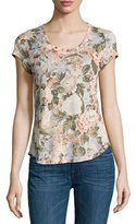 Rebecca Taylor Penelope Floral-Print Jersey T-Shirt, Multicolor