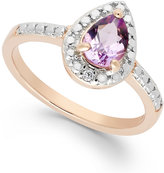 Townsend Victoria Pink Amethyst (5/8 ct. t.w.) and Diamond Accent Ring in 18k Rose Gold over Sterling Silver