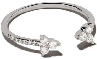 Ef Collection 14kt White Gold Open Diamond Trio Ring