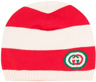 Gucci Kids Double G knitted hat