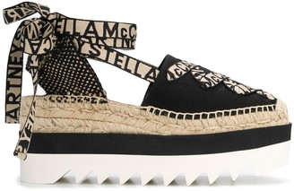 Stella McCartney Logo Lace-Up Platform Espadrilles
