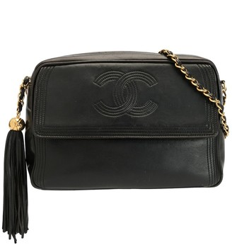 Chanel Pre Owned 1992 CC Stitch Tassel chain bag
