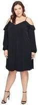 MICHAEL Michael Kors Size Cold Shoulder Chain Strap Dress