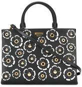 Moschino floral tote - women - Calf Leather/metal - One Size