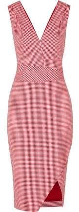 Altuzarra Elida Gingham Cotton-Blend Dress