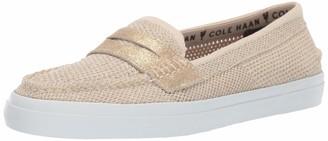 Cole Haan Women's Pinch Weekender LX Stitchlite Loafer Flat Navy/White 5.5 B US