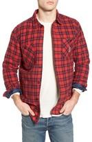 RVCA Men's Toy Machine Flannel Shirt Jacket