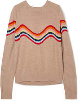 House of Holland Cutout Intarsia Merino Wool-blend Sweater - Beige