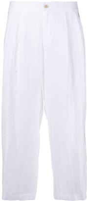 Ermanno Scervino Striped Cropped Trousers