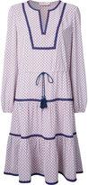 Tory Burch contrast-hem patterned shirt dress - women - Polyester - 6