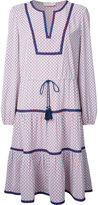 Tory Burch contrast-hem patterned shirt dress - women - Polyester - 8