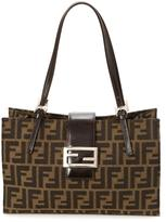 Fendi Pre-Owned Zucca Coated Canvas Baguette Bag