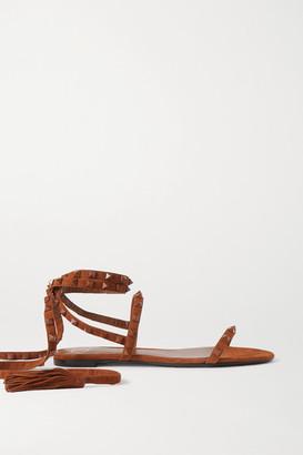 Valentino Garavani Rockstud Suede Sandals - Tan