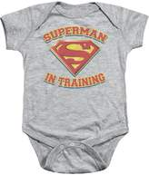 Superman DC Comics In Training Baby Infant Romper Snapsuit