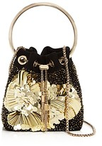Jimmy Choo Bon Bon Embroidered Suede Bucket Bag