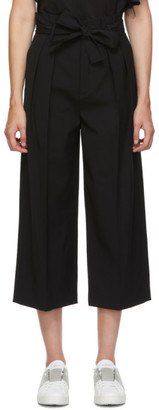 RED Valentino Black Gabardine Cropped Trousers