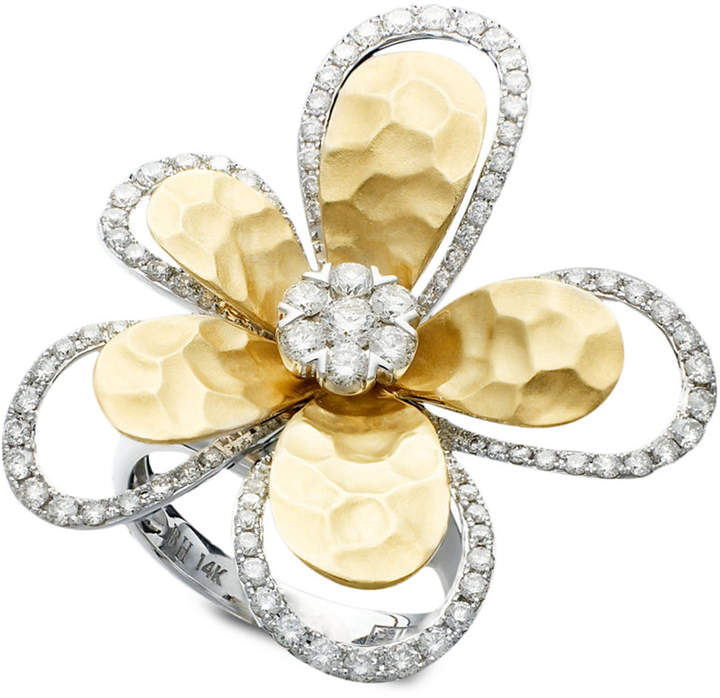 Effy D'Oro by Diamond Flower (1-1/4 ct. t.w.) in Two-Tone 14k Gold