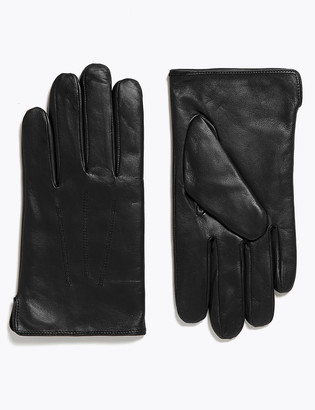 Marks and Spencer Leather Gloves with Thermowarmth