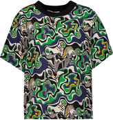 MSGM Printed silk T-shirt