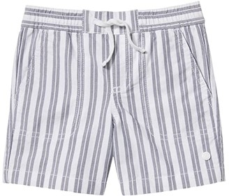 Janie and Jack Stripe Oxford Pull-On Shorts (Toddler/Little Kids/Big Kids) (Blue) Boy's Shorts