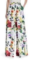 Alice + Olivia Dustin Super Flared Floral-Print Cotton Pants