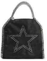 Stella McCartney Mini Studded Faux Brushed-Leather Shoulder Bag